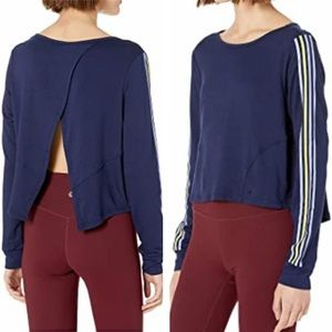 NWT Splendid Cropped Stripe Deconstructed Pullover